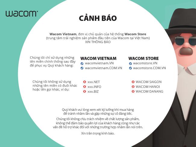 Cảnh báo dành cho khách hàng của Wacom Vietnam: Cách phân biệt tên miền, tên gọi chính thống và không chính thống