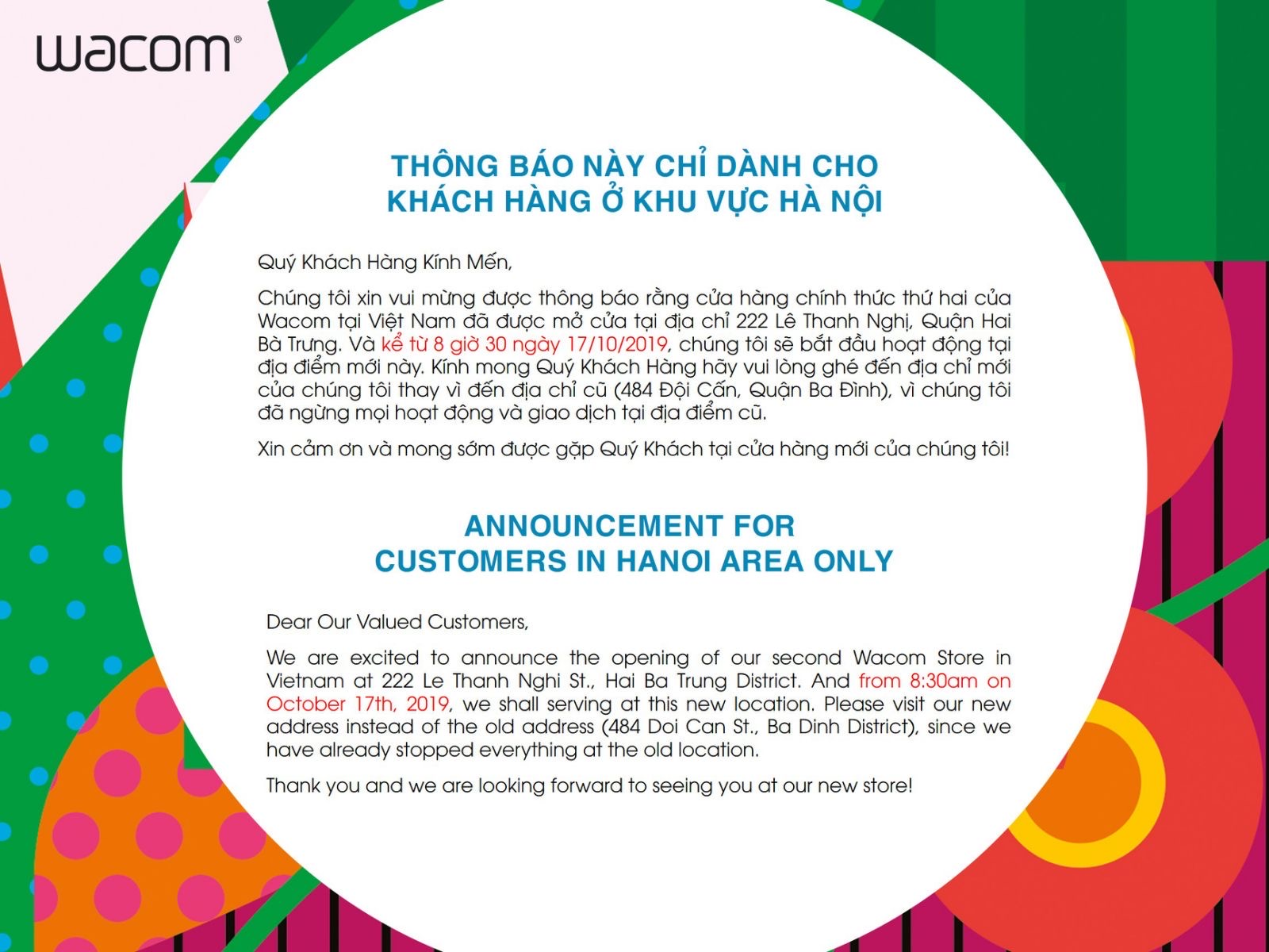 We've moved to a new location in Hanoi!!!